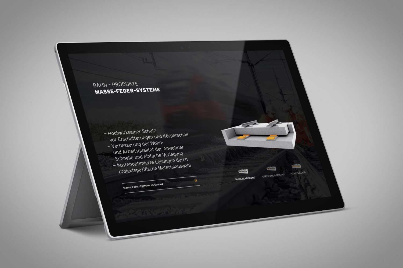 Produktseite –Bahn –Masse-Feder-System