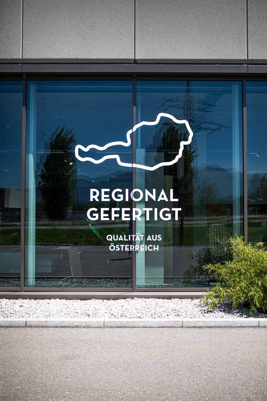 Fensterbeklebung –Regional gefertigt