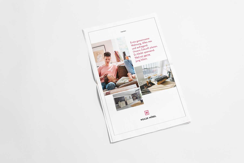 Weiler Möbel –Printanzeige