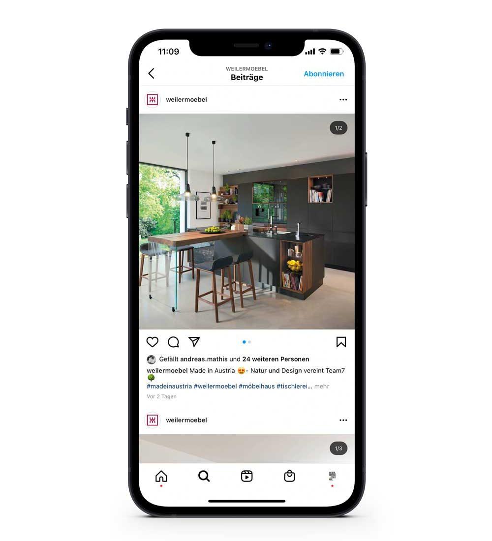 Weiler Möbel – Instagram Feed